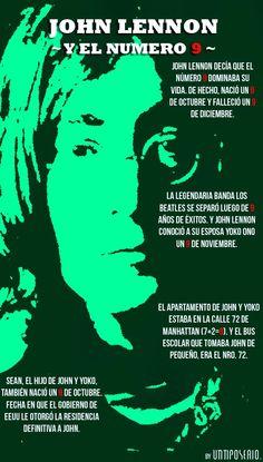 John Lennon y el número 9 #infografia