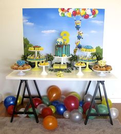Despicable Me Minions birthday party! See more party ideas at CatchMyParty.com!