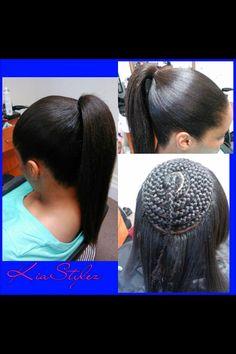 Sew in ponytail - Black Hair Information Community My Hairstyle, Ponytail Hairstyles, Weave Hairstyles, Cool Hairstyles, Curly Haircuts, Trendy Haircuts, Love Hair, Gorgeous Hair, Sew In Ponytail