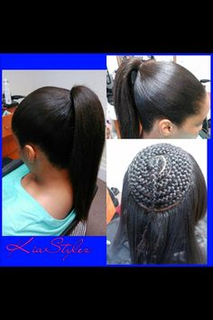 Sew in pony -- I would like to try this when my hair long enough to cover with kinky/curly hair