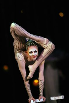 Irina Naumenko performs during the dress rehearsal of Cirque Du Soleil's Varekai show at The Royal Albert Hall in London, on January 3, 2010...