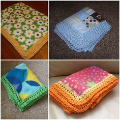 Edges for Fleece soft Baby Blankets [Free Crochet Pattern] – 2019 - Blanket Diy Crochet Edging Patterns Free, Crochet Lace Edging, Crochet Borders, Easy Crochet, Crochet Baby, Free Crochet, Free Pattern, Sewing Patterns, Crochet Edgings