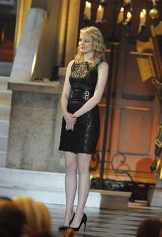 Emma Stone in a Versace - Best Dressed Fashion, Models, and Celebrities Week of June 4, 2012