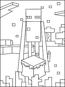 cool ender coloring page minecraft coloring pages