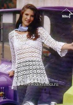 Crochet blouse chart pattern