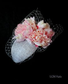 Stunning romantic hat from Irish millinery at LGM Hats. Perfect for a mother of the bride or a wedding guest.