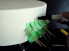 use toothpicks to keep ruffles from falling flat