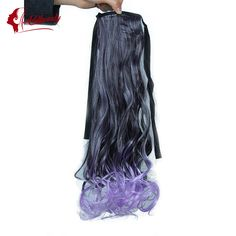 Wavy Ponytail, Ponytail Hairstyles, Drawstring Ponytail, Synthetic Hair, Hair Pieces, Tie Dye Skirt, Colorful, Store, Hot