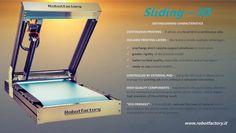 Sliding-3D - Distinguishing characteristics - #3dprinting #continuous #robotfactory Robot Factory, 3d Printing, Prints, Impression 3d