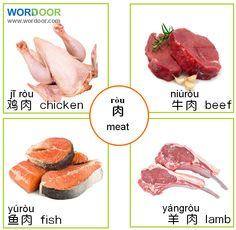 Wordoor - meats in mandarin