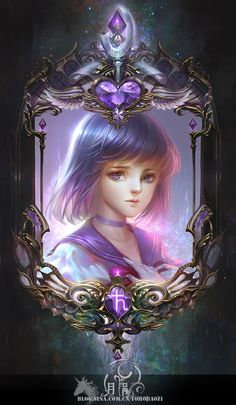 Sailor Saturn fanart by 月涡.