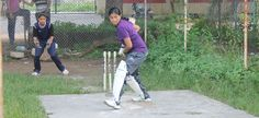 Watch the ball  women-cricket-Udaipur-India