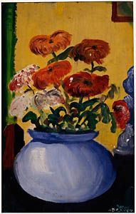 Flowers, 1951 - David Hockney Painting - http://www.hockneypictures.com/works_paintings_50_03.php
