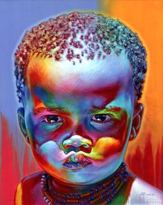 (A child he painted from Namibia)Stephen Bennett