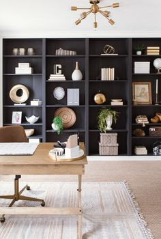 Home Office Reveal - mit IKEA Billy Bookcases ausgestattet Home Office Reveal- . Home Office Reveal – mit IKEA Billy Bookcases ausgestattet Home Office Reveal- built in's with Home Office Shelves, Office Bookshelves, Ikea Billy Bookcase, Home Office Space, Home Office Design, Home Office Decor, Home Design, Office Designs, Office Ideas