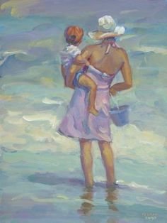Hey, I found this really awesome Etsy listing at https://www.etsy.com/listing/173810688/mother-child-ocean-beach-son-boy-art