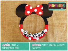 Marco gigante de Minnie - Cumpleaños niña… Podemos personalizarla con cualquier tema! • Minnie giant photo frame - Girl birthday... We can personalize it with any party theme!