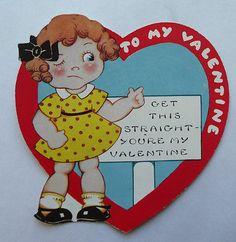 Vintage~Valentine's Day Card-Circa 1930's ~ You're MY valentine