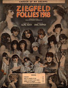 Vintage 1918, Ziegfeld Follies, NYC, www.RevWill.com