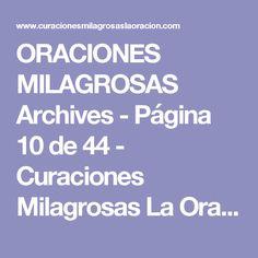 ORACIONES MILAGROSAS Archives - Página 10 de 44 - Curaciones Milagrosas La Oración