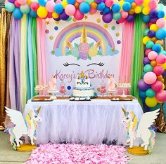 inches This listing is for a customized Unicorn Birthday Inspiration. Digi… inches This listing is for a customized Unicorn Birthday Inspiration. Digital design for a Backdrop and invitation, no physical items will be delivered. Party Unicorn, Unicorn Themed Birthday Party, Unicorn Baby Shower, Unicorn Birthday Parties, First Birthday Parties, Birthday Party Decorations, Unicorn Head, Birthday Ideas, 5th Birthday