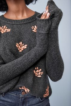 Gemstones are a girl's best friend when it comes to this sweater #womenclothingwinter