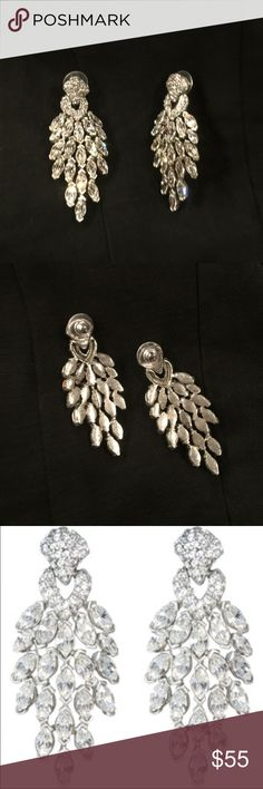 Peacock earrings Very stylish and dazzling pair of earrings, just found it in my closet! Never worn. Ben-Amun Jewelry Earrings