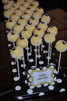 "Photo 18 of 20: yellow & black w/white polka dots / Bridal/Wedding Shower ""Ed & Yvette's Wedding Shower"" | Catch My Party"