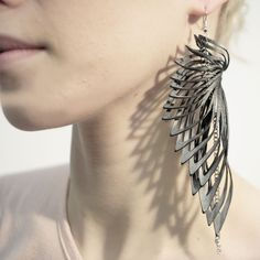 Long statement earrings
