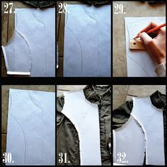 Make your own sewing blocks by tracing a garment that fits you really well.
