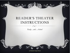 FREE! Great powerpoint on Reader's Theater.