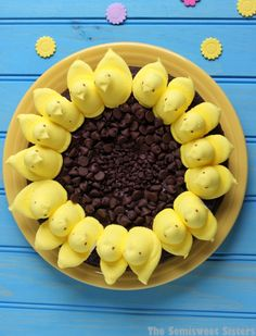 Peeps Sunflower Brownies