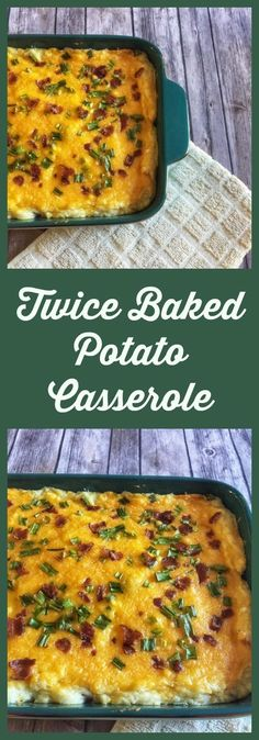 Twice Baked Potato Casserole . Easy recipes, simple recipes, easy sides, potato dish, christmas sides, thanksgiving sides, cheese sides, easy dinner. #easyrecipes -Onlygirl4boyz