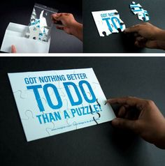 Creative Puzzle Direct mailer
