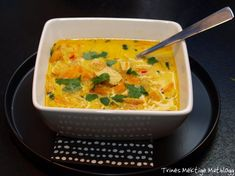 Great Recipes, Soup Recipes, Norwegian Food, Norwegian Recipes, Indian Chicken, Asian Recipes, Ethnic Recipes, Chicken Soup, Thai Red Curry