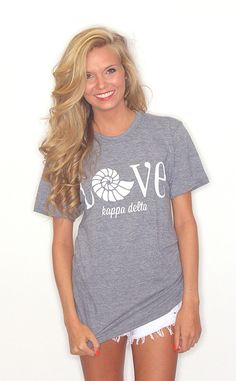 Riffraff | Love Greek American Apparel Tee [Kappa Delta]©