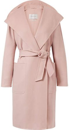 Max Mara - Hooded Wool And Cashmere-blend Coat - Pastel pink