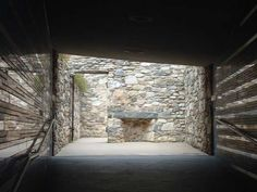 little known Irish Hunger Memorial in lower Manhattan