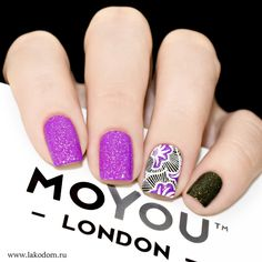 Africa 02 Picture Polish Mossy,Orchid / MoYou London White Knight