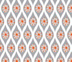 inspiration for next quilt Modern Grey and Orange fabric by emilyannstudio on Spoonflower - custom fabric