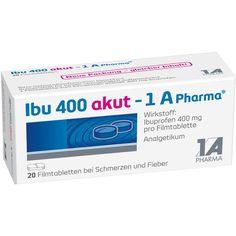 IBU 400 akut Ibuprofen 1A Pharma Filmtabletten gegen Schmerzen:   Packungsinhalt: 20 St Filmtabletten PZN: 02013219 Hersteller: 1 A…