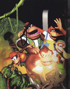 Nintendo 64 Games, Nintendo Sega, Super Nintendo, Retro Video Games, Video Game Art, Super Mario, Donkey Kong Country Returns, Donkey Kong 64, Mario All Stars
