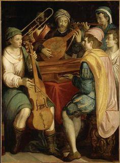 """Anónimo, escuela florentina, ca. 1550: """"Concierto""""."""