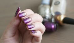 Autumn nails - silver, gold and lilac