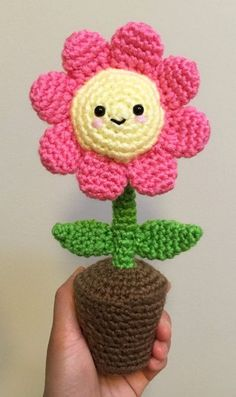 Having Fun With Crochet - Uncinetto Octopus Crochet Pattern, Crochet Flower Patterns, Crochet Patterns Amigurumi, Crochet Doilies, Crochet Flowers, Crochet Hooks, Pattern Flower, Crochet Cactus, Ceramic Flower Pots