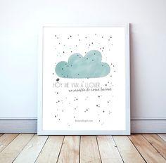 Poster para enmarcar en dormitorios infantiles. Láminas decorativas con declaración de amor. Ideas de decoración en Belandsoph. Frases de amor de pareja