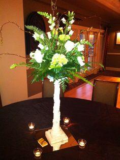 White Snapdragons Green Hydrangeas www.flowersfromus.net