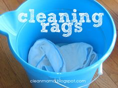 Cleaning rags - removing paper from the home