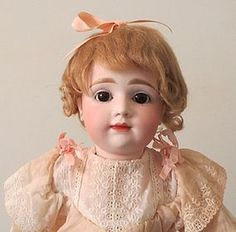 """A.T. Kestner - 15"""" tall with perfect bisque http://www.dollshopsunited.com/stores/anntiquedolls/items/1273660/AT-Kestner-15-tall-perfect-bisque #dollshopsunited"""