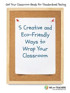 5 Creative and Eco-Friendly Ways to Wrap Your Classroom for Testing Classroom Walls, Classroom Design, Classroom Organization, Classroom Management, Classroom Ideas, Bulletin Board Design, School Bulletin Boards, Teacher Hacks, Teacher Stuff